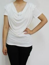 Acrylic Short Sleeve Casual Tops for Women
