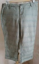 WHITE STUFF Capri Style Women's Plaid cotton Trousers uk size 14