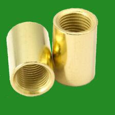 Brass Allthread Coupler M10 Thread 20mm x 13mm Joining Connector Round Nut