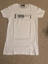 ES Collection White RESPECT T-shirt Size XS