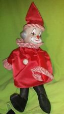 Reduced Vintage Ceramic Musical wind up sitting Clown Doll Christmas Gift Idea