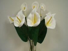 "CREAM Foam Large Calla Lily Bush Artificial Flowers 20"" Bouquet 550CR"