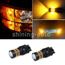 waterproof 3157 4157 4057 LED Amber Yellow Turn Signal Blinker Corner Light bulb