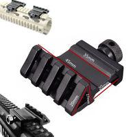 45 Degree Offset 25.4mm Picatinny Weaver Rail 20mm Side Rail Mount For Rifle