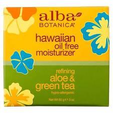 2 X 85ml Alba Botanica Nat Hawaiian Oil Moisturiser Refining Aloe Green Tea