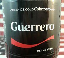 Share A Coke Zero With Guerrero Coca Cola Bottle 2017