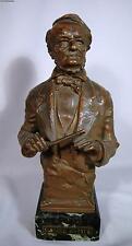 Antique C. Kauba Austrian Bronze Sculpture Of Richard Wagner On Marble Base