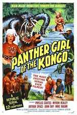 Panther Girl Of Congo Poster 01 A2 Box Canvas Print