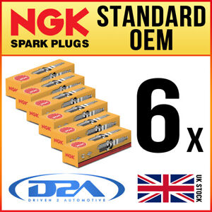 6x NGK BKR6EKPB-11 (3452) Standard Spark Plugs For LEXUS GS300 3.0 05/97-->12/99