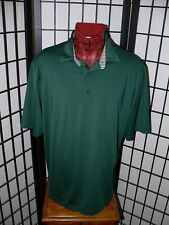 Footjoy Green Poly/Spandex Short Sleeve Polo Golf Shirt Mens Size L Large