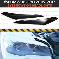 Eyelids Eyebrows on headlights for BMW X5 E70 broad covers brows ABS plastic
