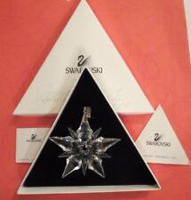 SWAROVSKI CRYSTAL~SNOWFLAKE CHRISTMAS ORNAMENT~2001~BOX & PAPERS~LIMITED ED~