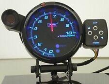 """95mm (3.75 """") Premium Serie Tachometer Bernstein/Weiß/Blau Messgerät"""