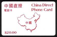 'China Direkte Handy Karte ' ( Rot Kontur von Mainland China Karte) Handy Karte