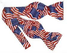 (1) American Flags Self-tie Bow tie - USA Flags - Stars and Stripes Forever!