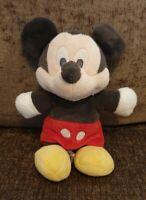 "Disney Mickey Mouse Soft Toy Plush Posh Paws Grey 8"""
