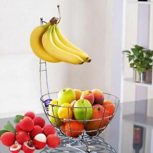 Premium Quality Fruit Basket with Banana Hook Hanger Tree Bowl Stand-18 inch