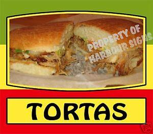 "Tortas Decal 14"" Mexican Latino Food Truck Restaurant Concession Vinyl Sticker"