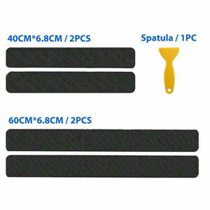 4pc Car Door Sill  Scuff Protector Ford Stickers 4D Carbon Fibre Cover Anti-Kick