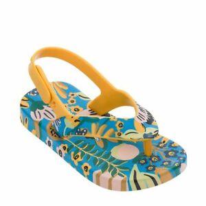 Mini Melissa Baby Sandals Blue Yellow Flip Flops NEW