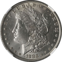 1883-O Morgan Silver Dollar NGC MS63 Blazing White STOCK