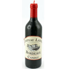 WINE BOTTLE CANDLE VINTAGE GIFT HOME WAX TABLE DECORATION DECOR PARTY NEW RED