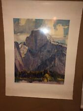 "Vintage Repro From Original Oil Painting Maurice ""Half Dome"""