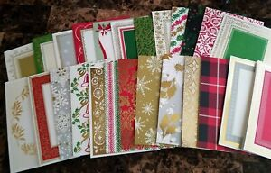 Anna Griffin Christmas Collage Cards Envelopes Inside Sentiments 25