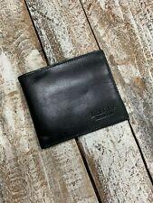 Will Leather Goods Smooth Black Bill Adler Billfold Wallet NWT