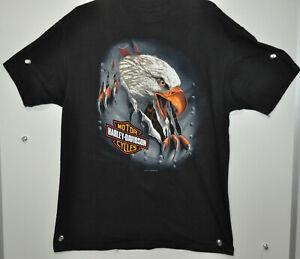 "Vtg 1994 Harley-Davidson ""EAGLE"" Desert Sports Farmington,NM T- shirt size L"