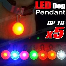 1X 2X 3X 5X DOG/CAT PET LED GLOW COLLAR TAG PENDANT FLASHING SAFETY NIGHT LIGHT