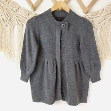 Nwt Bcbg Max Azria Gunmetal Gray Angora Blend Babydoll Cardigan Sweater Small