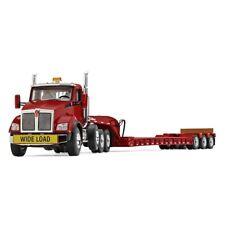 First Gear 50-3392 Kenworth T880 Tri-axle Tractor / Trailer - Red - 1/50 MIB