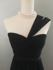 $338 BCBG Jamille Black 1 Shoulder Sweetheart Gown Dress Size 4 XS S Small