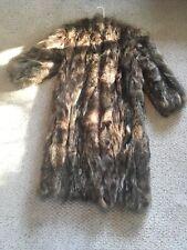 Chevron multi-color Raccoon fur Shaggy Coat fluffy bolero jacket