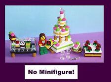 Cake Set Pastry Bride Birthday Bakery Shop Wedding MOC - MADE OF LEGO BRICKS