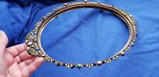 New ListingAntique Vanity Tray, Oval Victorian Jeweled Enamel scroll no mirror