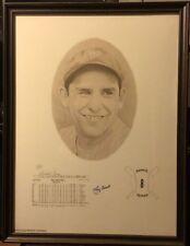 YOGI BERRA AUTO SIGNED LITHOGRAPH #687/1000 FRAMED 18x24 DAVID COONEY YANKEES