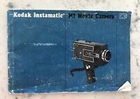 Vintage Kodak M7 Instamatic Movie Camera - INSTRUCTION BOOK ONLY