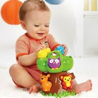 Infantino Teether Toy Squeeze and Teethe Forest Friends Baby Animal/Tree NEW NIB