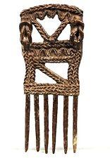 Art Africain Tribal - Peigne Akan Ashanti en Bronze - African Comb - 15,5 Cms ++