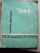 BSA 500 & 650 Unit Contruction Twins Workshop Manual