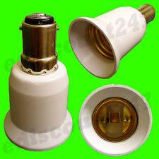 HIGH QUALITY SBC B15 to E27 Adaptor Socket LED Converter Lamp Holder UK SELLER.