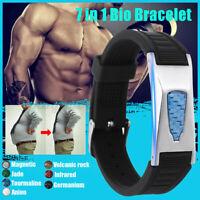 7 IN1 Bio TITANIUM Magnetic Energy Armband Power Bracelet Health Pain AU