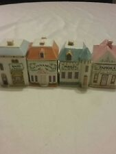 4 Lenox spice village jars fine porcelain from 1989