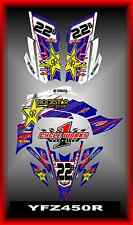 YAMAHA YFZ 450R 450 X  09-13 ATV QUAD  SEMI CUSTOM GRAPHICS  DECALS MYTEAM