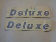"""DELUXE DECAL PAIR ( 2 ) BLUE AND WHITE 6 5/8"""" W X 1 3/8"""" H MARINE BOAT"""