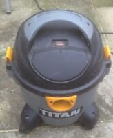 TITAN TTB350VAC 1100/1300W. WET/DRY VACUUM CLEANER. COLLECTION FROM BLACKPOOL