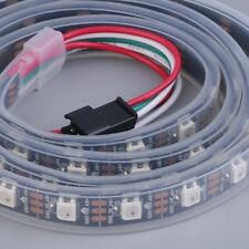 1M 60LED WS2812B 5050 RGB LED Light Strip impermeabile indirizzabile Black LQ