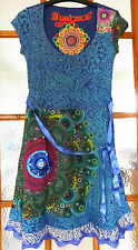 New Desigual Ladies Dress 'YOLANDA' Half Sleeve, Size XXL, Scoop Neck